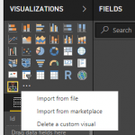 Importmenu PowerBI