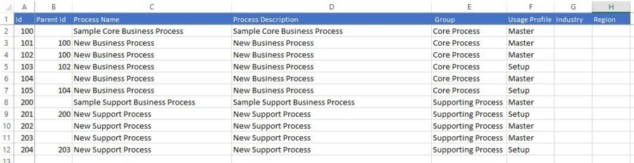Excel template Library