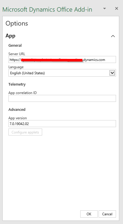 dynamics office add-in connect